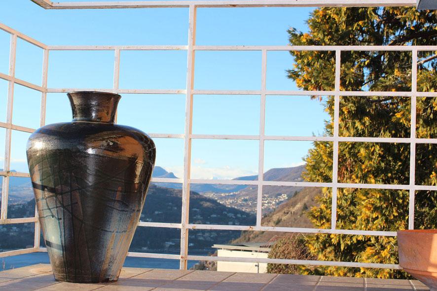 Giara Gres stoneware ash Glazes 1280°C  Ø40 h60 cm