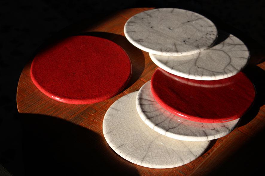 Piatti piatti: Terracotta Raku 1000°C Ø 18 cm