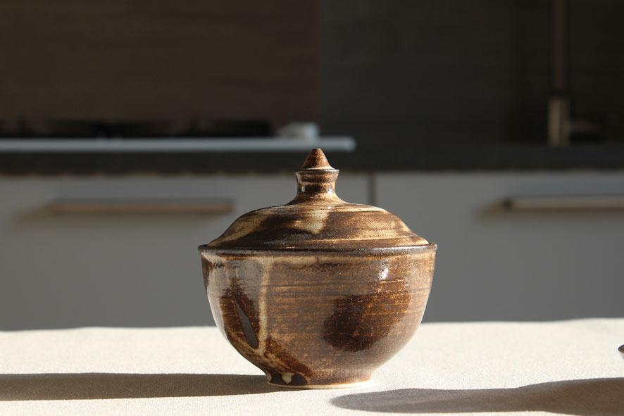 Portaspezie caramella: Gres stoneware 1260°C Ø 11 h 11 cm